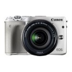 Canon EOS M3 - Digital camera - High Definition - mirrorless system - 24.2 MP - 3 x optical zoom EF-M 18-55mm IS STM lens - Wi-Fi, NFC - white 9772B011