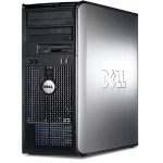 Dell OptiPlex 760 Intel Core 2 Duo 2.80GHz Mini Tower PC - 4GB RAM, 750GB HDD, DVD+/-RW, Gigabit Ethernet - Refurbished PC1-0010