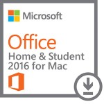 Microsoft Office for Mac Home and Student 2016 - Box pack - non-commercial - medialess, P2 - Mac - English - North America GZA-00850