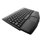 Adesso Mini-Touch Keyboard with Touchpad - USB - Black ACK-540UB