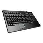 Adesso Easy-Touch Keyboard with Touchpad - PS/2 - Black ACK-730PB