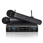 Technical Pro Pro UHF Dual Mic System with Carrying Case WM852