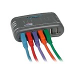 Cables To Go 7-Port USB 2.0 Hub with Five Colored USB 2.0 Cables - Hub - 7 x USB 2.0 - desktop 28224