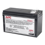 APC Replacement Battery Cartridge #114 - UPS battery - 60 VA - 1 x lead acid  - black - for Back-UPS ES 450 APCRBC114