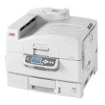 Oki C9650n - Printer - color - LED - Tabloid Extra (12 in x 18 in), 12.9 in x 17.8 in - 1200 x 600 dpi - up to 40 ppm (mono) / up to 36 ppm (color) - capacity: 760 sheets - parallel, USB, Gigabit LAN 62430605