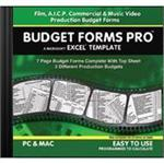 Movie Forms Pro BUDGET FORMS PRO for Mac/Windows BFP