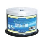 VinpowerDigital Optical Quantum Logo Top - DVD+R DL x 50 - 8.5 GB OQDPRDL08LT-50