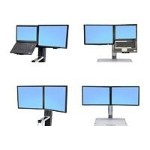 "Ergotron WorkFit Convert-to-Dual Kit from LCD & Laptop, for WorkFit-S or WorkFit-C - Mounting kit - screen size: 22"" - for P/N: 24-196-055, 33-340-200 97-616"