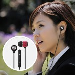 Maxell iPhone Flatwire Earbuds with Built-IN Microphone - Pink/Black 190305