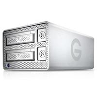 G-Technology G-DOCK ev with Thunderbolt 2TB Expandable RAID Storage Solution with two removable hard drives 0G02719