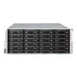 Super Micro Supermicro SC847 A-R1K28WB - Rack-mountable - 4U - enhanced extended ATX - SATA/SAS - hot-swap 1280 Watt - black CSE-847A-R1K28WB