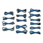 Corsair Memory Professional Individually sleeved (Type 3, Generation 2) - Power cable kit - blue - for  AX1200, AX760, AX860, HX1050, HX650, HX750, HX850; Enthusiast Series Modular TX650 CP-8920046